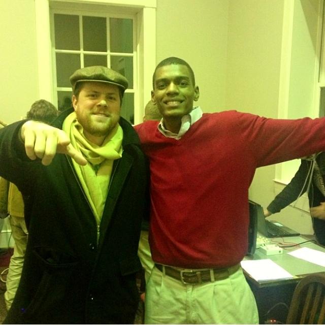 (left) Spencer Conover '10, Robert Kernodle '16